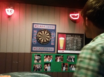 Greg taught me darts