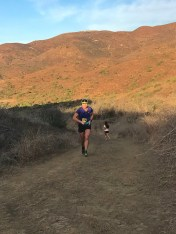 Chugging up a hill mid-race