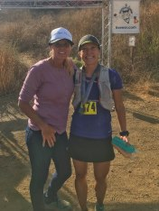 She made it tough (the course), beautiful (the location), and do-able (well run and reliable aid).